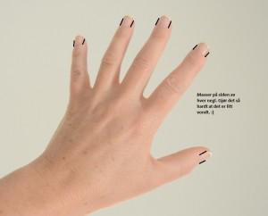 nese hånd negl